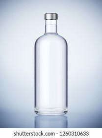 Vodka Bottle. 3D rendering