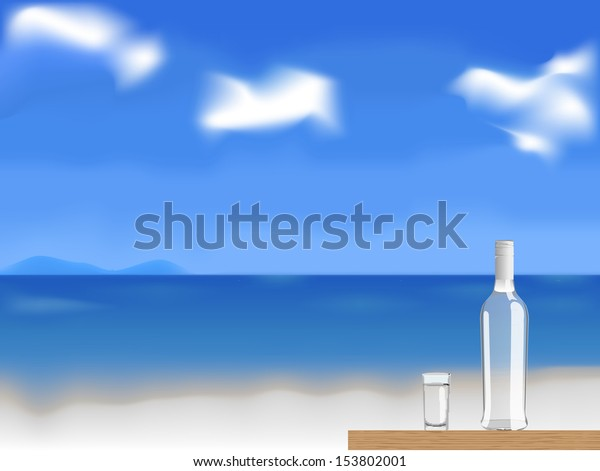vodka on the beach