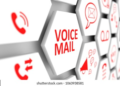 VOICEMAIL concept cell blurred background 3d illustration