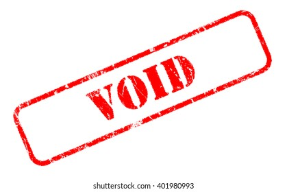 VOID rubber stamp text on white background