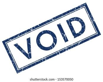 Void square grunge blue stamp