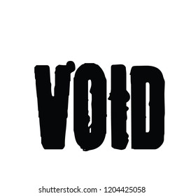 Void stamp on white background