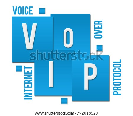voip voice over internet protocol text written over blue background