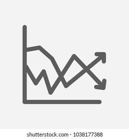 Volatility icon line symbol. Isolated  illustration of  icon sign concept for your web site mobile app logo UI design.