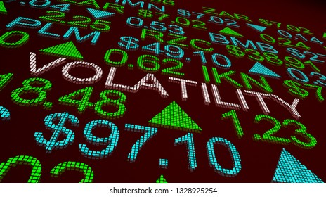 Volatility Wild Movement Prices Up Down Stock Market 3d Illustration