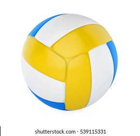 Volley Ball Isolated. 3D rendering