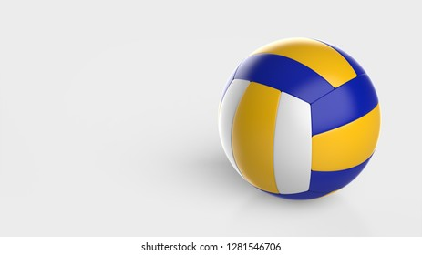 volleyball colored right 3d rendering
