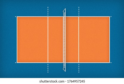 volleyball court top view illustration