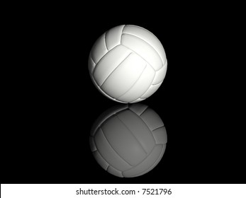 volleyball isolated on black background