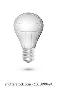 Volleyball light bulb / 3D illustration of light bulb shaped volleyball isolated on white background