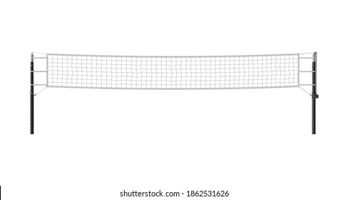 Volleyball Net 3D illustration on white background