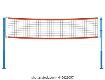 volleyball net illustration. Isolated on a white background