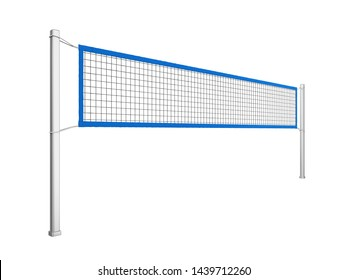 Volleyball Net Isolated. 3D rendering