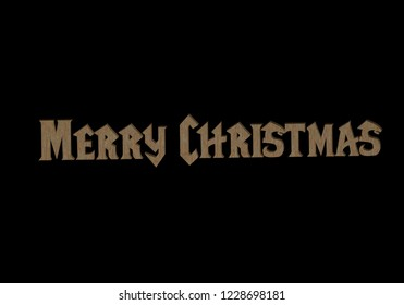 "Volume 3d inscription ""Merry Christmas"" in the style of Warcraft, 3D rendering."