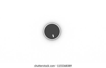 Volume button black on white background 3d illustration