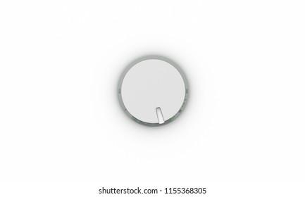 Volume button metal on white background 3d illustration