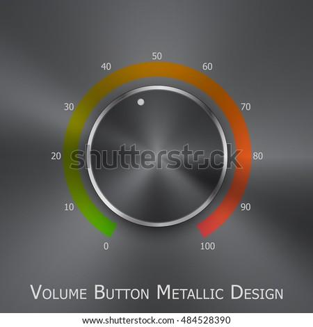 Royalty Free Stock Illustration of Volume Button Music Knob Metal