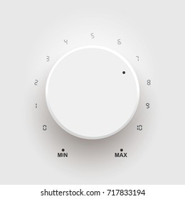 Volume button music knob scale and light background illustration
