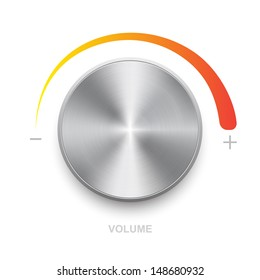 Volume control on a white background