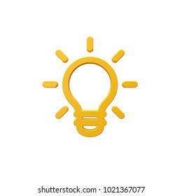 Volumetric icon 3d New Idea, Ligth Bulb