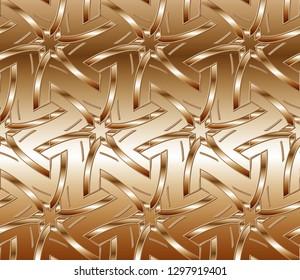Volumetric metal mosaic on a colored background. design solution for interior decoration, floor steps, walls. Retro elegant  flourishes ornamental frame design and pattern background.