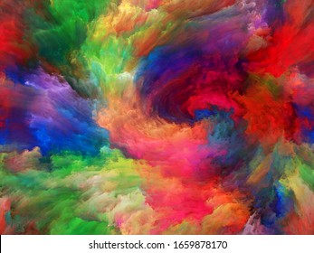 Vortex Twist and Swirl series. Backdrop design of color and movement on canvas for works on art, creativity and imagination