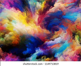 Vortex Twist and Swirl series. Composition of color and movement on canvas on the subject of art, creativity and imagination