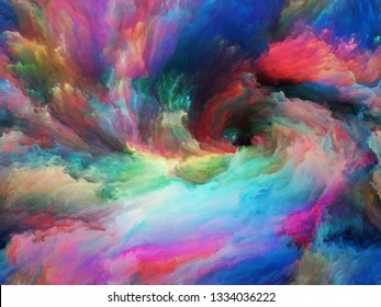 Vortex Twist and Swirl series. Creative arrangement of color and movement on canvas for subject of art, creativity and imagination