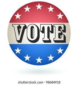 Vote Badge sign.