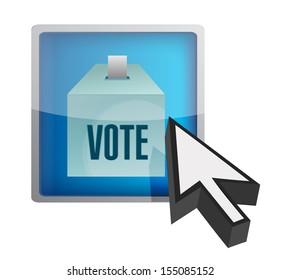 vote online concept illustration design over a white background
