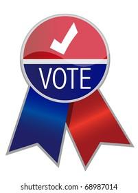 Vote ribbon