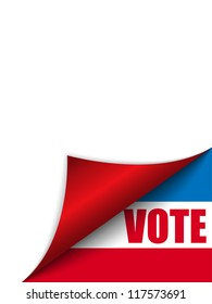 Vote United States of America Page Corner