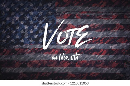 Vote in the United States midterm elections on November 6th 2018.