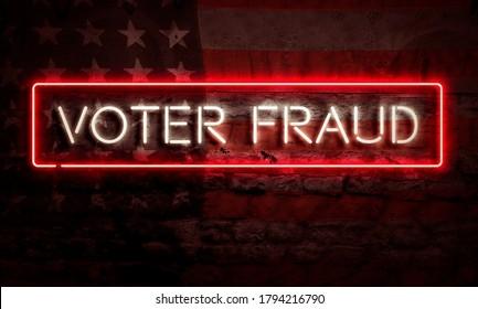 Voter Fraud Conceptual Graphic Election Politics