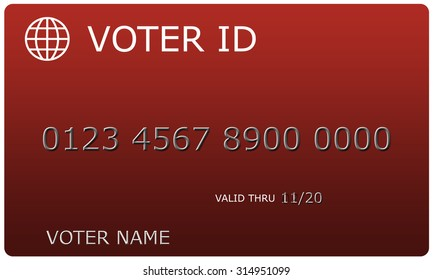 Voter ID sample card complete with number and name making a great concept.