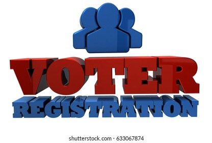 Voter Registration - Election - 3D Illustration