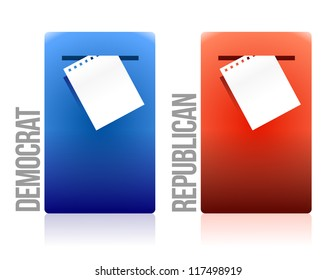 voting ballot democrat and republican illustration design