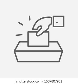 Voting icon line symbol. Isolated illustration of icon sign concept for your web site mobile app logo UI design.