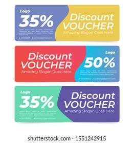 voucer discount flat design color