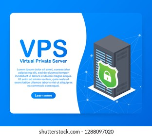 VPS Virtual private server web hosting services infrastructure technology.  stock illustration.