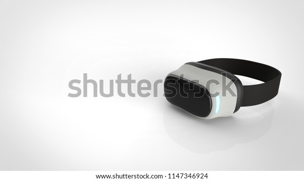 vr goggle with copy space 3d rendering