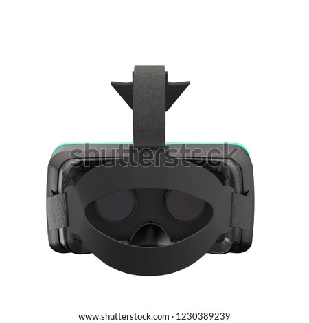 10b7c263f2d VR Goggles Headset Original Model. Inside and back view. Modern Tech Design  of Virtual Reality. 3D render Illustration isolated on white background -  ...