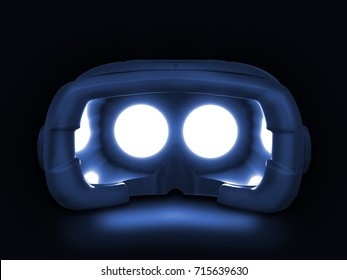 VR headset - virtual reality goggles - 3D illustration of a generic hmd