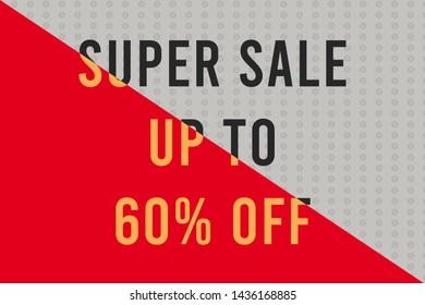 vSuper Sale up to 60% background illustration Stock Photo, sale concept,