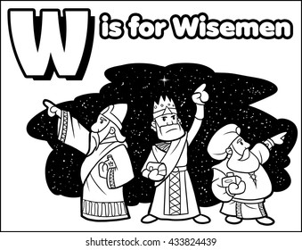 W is for Wiseman Coloring Activity