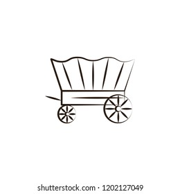 wagon desert icon. Element of desert icon for mobile concept and web apps. Hand draw wagon desert icon can be used for web and mobile