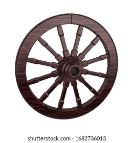Wagon Wheel 3D Rendering Illustration