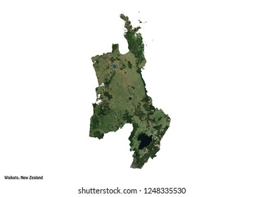 Waikato Map (3D illustration)