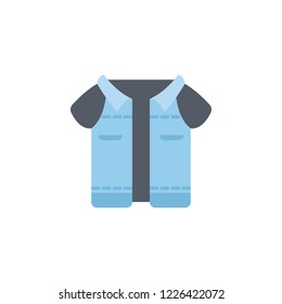 Waistcoat color icon. Element of color clothes icon for mobile concept and web apps. Detailed Waistcoat icon can be used for web and mobile