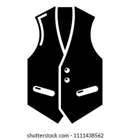 Waistcoat icon. Simple illustration of waistcoat icon for web